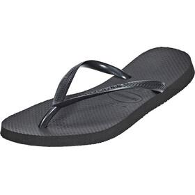 havaianas Slim Sandalen Dames zwart